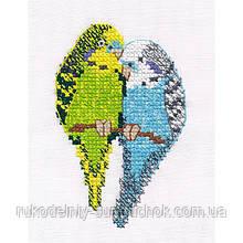 Набір для вишивки хрестом тм Овен 1396 Папужки
