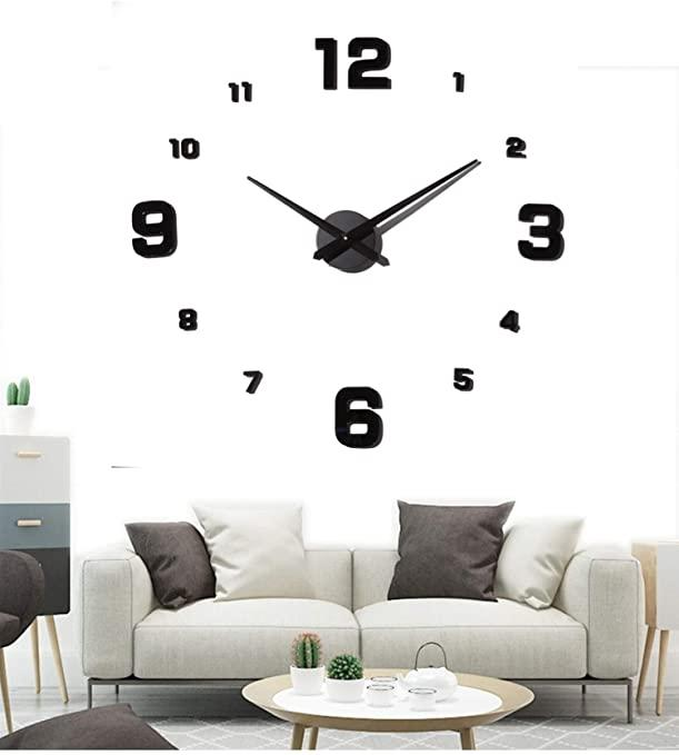 Часы настенные 3D Diy Clock с цифрами