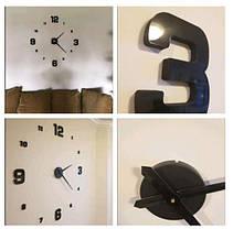 Часы настенные 3D Diy Clock с цифрами, фото 3