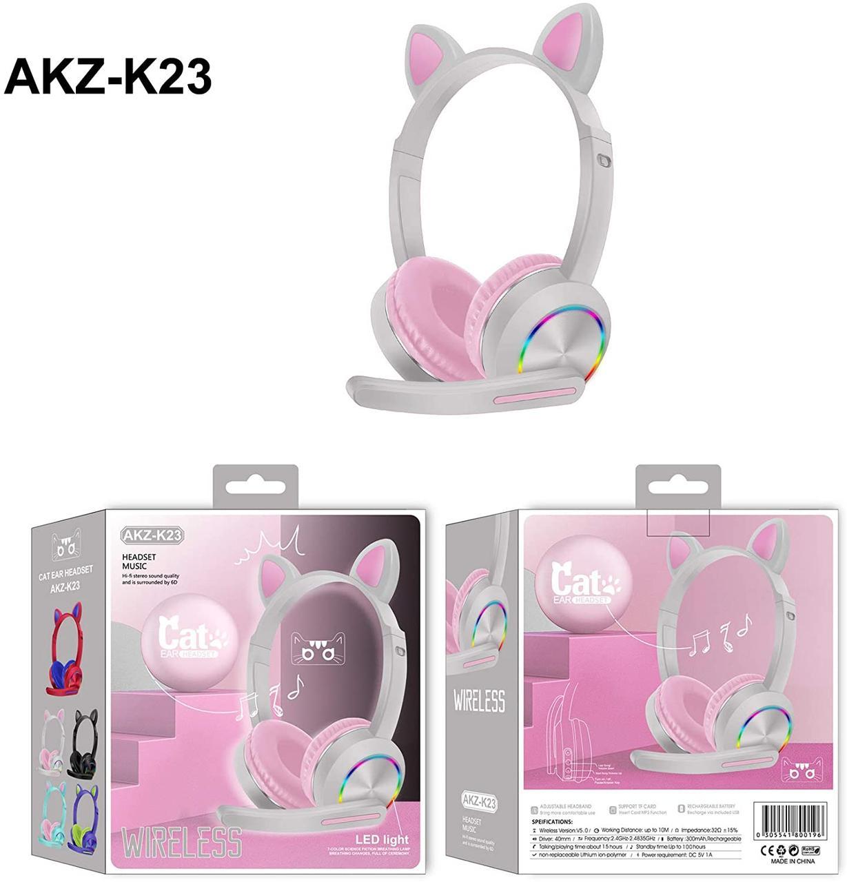 Беспроводные наушники Cat Ear с милыми кошачьими ушками