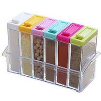 Кухонная подставка с шестью емкостями для специй Seasoning six piece set, фото 2