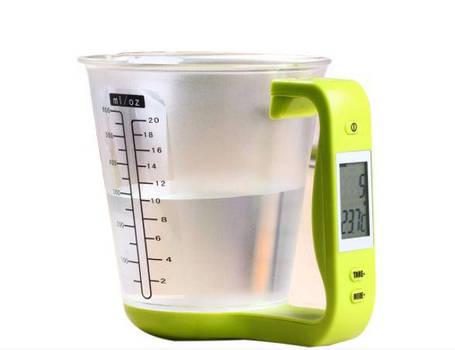 Цифровой кухонные весы до 1 кг мерная чашка, фото 2