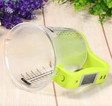 Цифровий кухонні ваги до 1 кг мірна чашка, фото 2