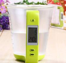 Цифровой кухонные весы до 1 кг мерная чашка, фото 3