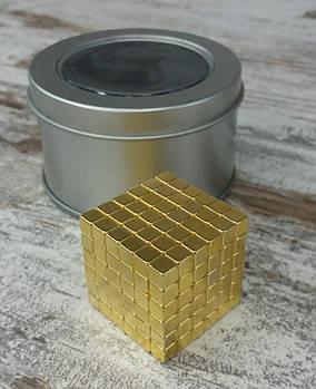 Неокуб Neocube золотий квадрат (Тетракуб) в металевому боксі. Магнітний конструктор антистрес неокуб.1