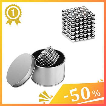 Неокуб Neocube сріблястий Нікелевий 4 мм 216 сфер кульок. Магнітний конструктор антистрес неокуб.1