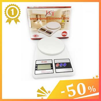Електронні кухонні ваги SF-400 з дисплеєм до 10 кг + Батарейки. Ваги для кухні компактні.1