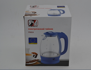 Электрический чайник PROMOTEC 1,7 л, 2250 Вт, стекло, фото 2