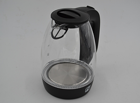 Электрический чайник PROMOTEC 1,7 л, 2250 Вт, стекло, фото 3