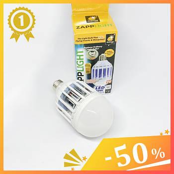 Світлодіодна лампа від комарів Зап Лайт ZAPP LIGHT LED LAMP. Лампочка знищувач комах Zapplight 9W.1
