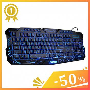 Клавіатура з підсвічуванням M-200 для комп'ютера. Клавіатура для ПК. Ігрова клавіатура. Дротова клавіатура1