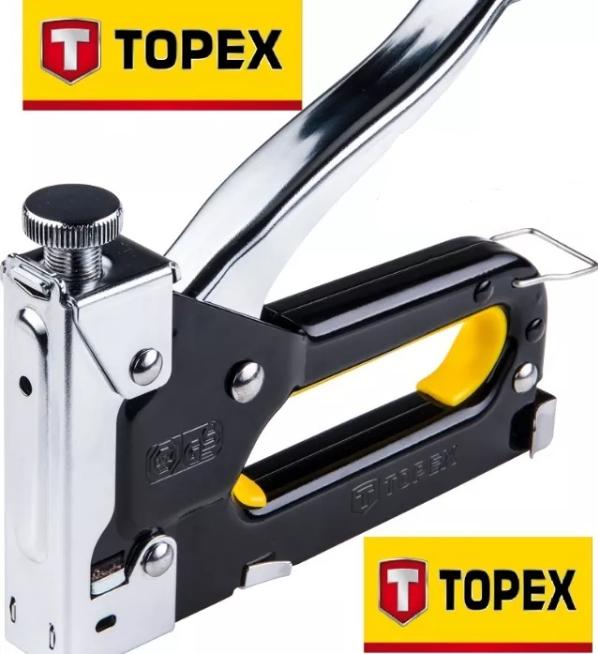 Степлер с регулировкой силы удара TOPEX