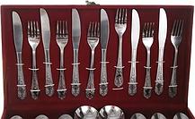 Набор столовых предметов приборов ложки вилки ножи, фото 2
