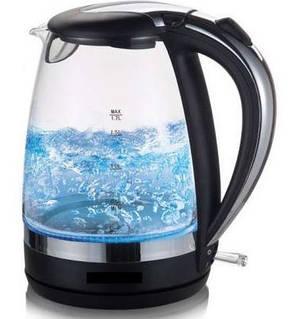 Електричний чайник з підсвічуванням Sinbo 2л скло, фото 2