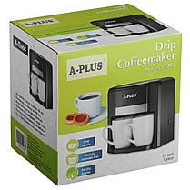 Кофеварка A-PLUS 500 Ват на 2 чашки, фото 3