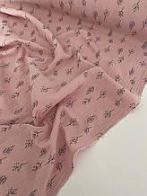 Муслин (хлопковая ткань) веточки на розе