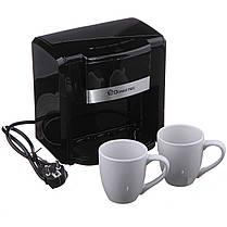 Кофеварка Domotec на 2 чашки 500W, фото 2