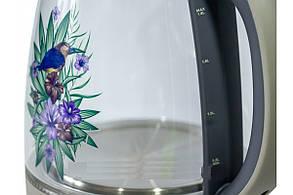 ЕЛЕКТРИЧНИЙ ЧАЙНИК RAINBERG Скляний електрочайник, фото 2