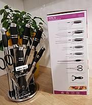 Набір ножів Benson 9 предметів крутиться з підставкою, фото 2