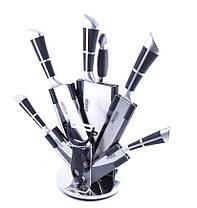 Набор ножей Benson 9 предметов  с крутящейся подставкой, фото 3