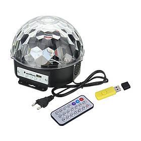 MP3 Диско-куля проектор LED Crystal Magic Ball Light колонка БЕЗ БЛЮТУЗ