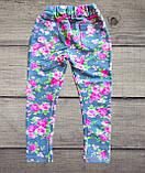 Детские леггинсы Цветы на девочку СЕРЫЕ размер 28, фото 4
