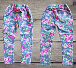 Детские леггинсы Цветы на девочку СЕРЫЕ размер 28, фото 5