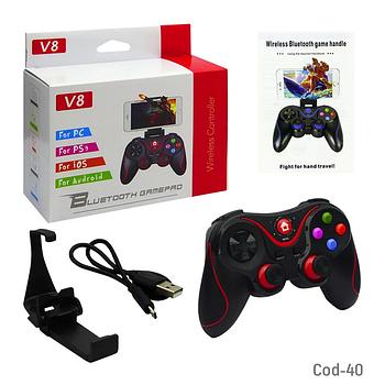 Ігровий бездротової Джойстик V8 Bluetooth для телефону Android / IOS / PC / PS3, Безпровідний Геймпад