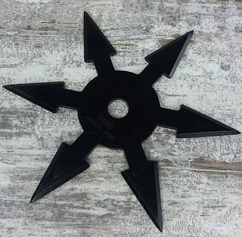 Зірочка сюрікен FR-60. Метальна зірка-сюрікен шестигранна з загостреними лезами. Зброя ніндзя.1