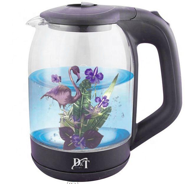 Электрический чайник с подсветкой 2л Фламинго
