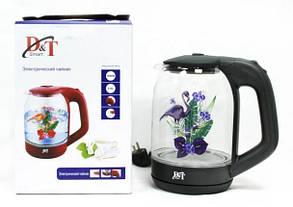 Электрический чайник с подсветкой 2л Фламинго, фото 3