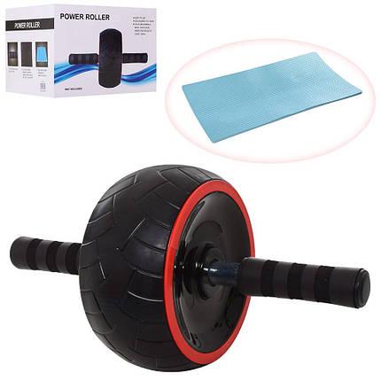 Тренажер Ролик (колесо) для мышц пресса Profi, фото 2