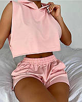Жіночий костюм шорти і топ з капюшоном, фото 1