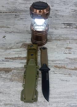 Кемпінговий складаний ліхтар G-85 в комплекті з мисливським ножем Gerber АК-207, туристичний ліхтарик з ножем1