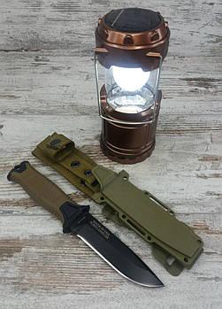 Мисливський ніж Gerber АК-207 в комплекті з кемпинговым складним ліхтарем G-85, туристичний ліхтарик з ножем1