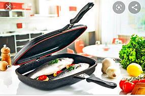 Двостороння антипригарна сковорода-гриль Dessini Italy 36 см