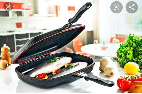 Двостороння антипригарна сковорода-гриль Dessini Italy 36 см, фото 2