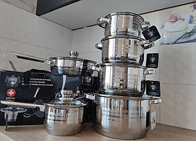 Набор посуды SwissHaus Cookware Set из 12 предметов