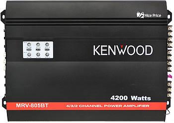 Автомобільний 4-канальний підсилювач звуку Kenwood MRV805BT 4200W Black (2644)