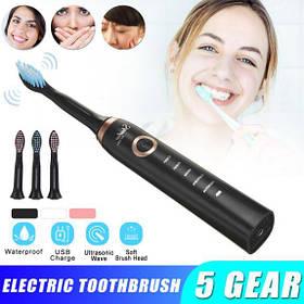 Ультразвукове зубна щітка з USB зарядкою + 3 змінні насадки