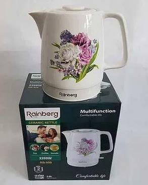 Чайник керамический Rainberg дисковый, 2 литра, фото 2