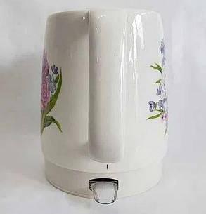 Чайник керамічний Rainberg дисковий, 2 літра, фото 2