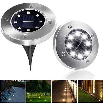 Вуличний світильник на сонячній батареї Solar Disk Lights 5050 8 led