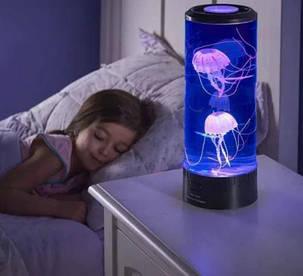Лампа-ночник со светодиодными МЕДУЗАМИ, фото 2