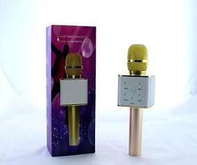 Мікрофон DM Karaoke Q7 золотий