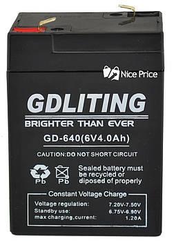 Свинцево-кислотний акумулятор GDLITE GD-640 6V 4.0 Ah (2375)