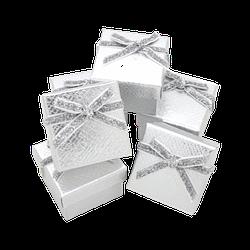 Коробка 50x50x35 Картон Серебристый