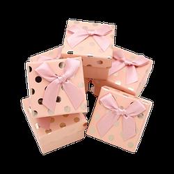 Коробка 50x50x35 Картон Персиковый