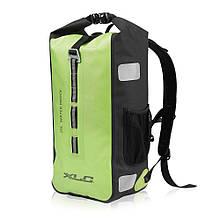 Заплечный велосипедный рюкзак водонепроницаемый XLC, 61 x 16 x 24 см, неоново-зеленый