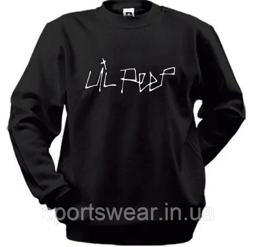 Толстовка Lil Peep Logo світшоти Реглан чорний Ліл Піп оверсайз У стилі Lil Peep Angry Girl хіп-хоп одяг, емо